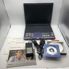 Vintage SONY VAIO PCG-GR214EP Pentium III Windows XP Gaming Laptop FULLY WORKING