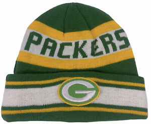 New Era Green Bay Packers Beanie Cap Hat Football NFL