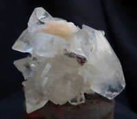 POINTED APOPHYLLITE WITH STILBITE AND HEULANDITE