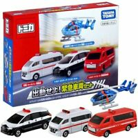 Takara Tomy Tomica Dispatch Emergency Vehicle Set 4 MINI Toys Cars Diecast