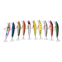 Hot!Fishing Bass Lures Diving Crankbait Minnow Treble Tackle Hooks Baits 9.5c EO