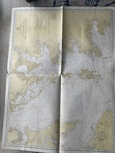 Original Nautical Chart Map Chesapeake Bay Smith Pt. To Cove Pt 1224 Issue 1942.