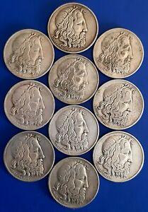 """GREECE / 1930 20 Silver Drachmai """"Poseidon"""" Lot of 10 Coins !!"""