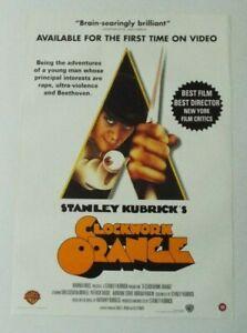 Clockwork Orange Promo Video Shop Original Movie Poster