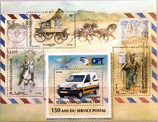 NEW CALEDONIA NEUKALEDONIEN 2009 Block 43 150 Jahre Postdienst Auto Kutsche Bote