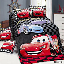 LIGHTNING MCQUEEN Quilt Doona Duvet Cover Set CARS Boys Bed Covers Single Size