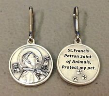 St. FRANCIS of ASSISI PET MEDAL - PROTECT YOUR PET - DOG or CAT MEDAL w/snap rng