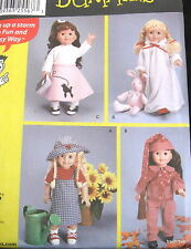 """Sewing for Dummies doll clothes craft pattern jumper dress nightgown 18"""" dolls"""
