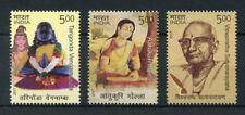 India 2017 MNH Saints & Poets Aatukuri Molla Vengamamba 3v Set Literature Stamps