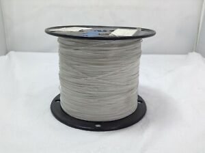 5040 FT M22759/11-26-9 hook up wire with 26 AWG / white PTFE jacket.