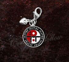925 Sterling Silver Charm ju-jitsu jujitsu, jiu jitsu, ju-jutsu MMA