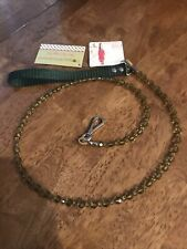 Fabuleash - Dog Puppy Leash - Bling Crystal Beads - Olive Green