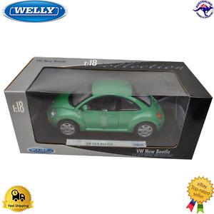 Diecast Model Car 1:18 VW New Beetle Welly Plastic Parts Opening Doors Bonnet
