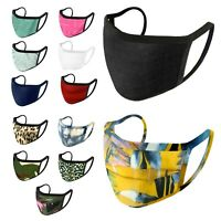 10 Pack Assorted - iFab Washable Reusable Cloth Face Mask 95% Poly - Made In USA