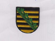 Sachsen  Wappen Patch Aufnäher,Aufbügler,Saxsonia