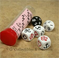 NEW Crown and Anchor Old English Gambling Game Dice Set in Tube with Extra Game