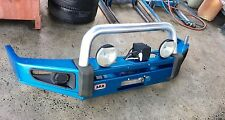 ARB bull bar blue to suit D40 Nissan Navara with Tigerz11 winch