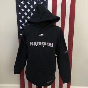 Reebok Sacramento Kings hoodie sweatshirt men's large NBA fusion black 2e603p
