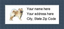 """Chow Chow Return Address Labels  - Personalized """"BUY 3 GET ONE FREE"""""""