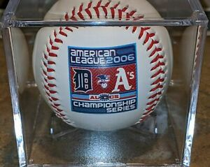 2006 ALCS DETROIT TIGERS OAKLAND Athletics SOUVENIR BASEBALL MLB Official VTG