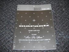 MARANTZ CAR-310. Service Manual Original Paper