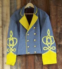 civil war confederate reenactor cavalry shell jacket with 4 braids 52