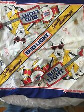 Vintage 80s Bud Light Spuds MacKenzie Bandana Handkerchief And Stuffed Animal