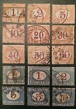 1870/1925 cv $200.00+  Post. Due  Sc #J3/20 set used -15 stamps