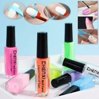 PEEL OFF LIQUID TAPE  NAIL LATEX FINGER CUTICLE PROTECTION Colours PALISADE UK