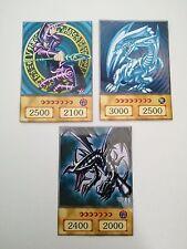 YuGiOh Orica/Anime Style Rotäugiger Blauer Drache,Dunkler Magier,Blauäugiger w.D