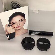 New BOBBI BROWN Lot 4 Makeup Samples - Eyeliner, Mascara, Pot Rouge & Bronzing