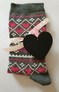 Heart Socks With Pink Heart Ribbon And A Heart Chalkboard  - A Perfect Gift!
