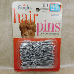 """Vintage Gayla Hair Pins NEW IN BOX 2.5"""" 100 Pins UNOPENED"""