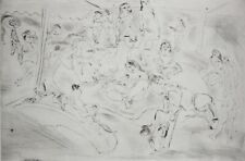 JULES PASCIN-French Modernist-Hand Signed LIM.ED Etching-Female Nudes/Brothel