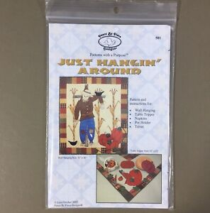 Just Hangin Around scarecrow quilt pattern Peace By Piece Designs Halloween Fall
