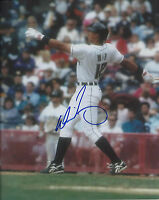 Derrick May 1995 Milwaukee Brewers Signed Autographed 8x10 Photo COA