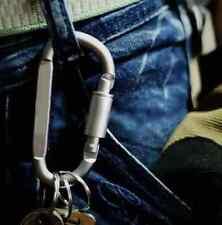 Outdoor Aluminum D-Ring Screw Locking Carabiner Hook Clip Key Chain AV