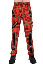 Punk Zip Bondage Tartan Pants Tiger