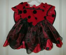 Infant 9 Months Lady Bug Costume Play Dress with Wings Red & Black Koala Kids