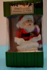 Christmas Tree Ornament Blown Glass Figurine Decoration Santa Claus Presents 3""
