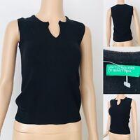 Women's UNITED COLOURS OF BENETTON Tank Top Sleeveless Vest Size M UK 8-10 Wool