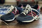 VTG Adidas Originals LA Trainer Running Shoes Blue Suede 8.5 Men Zx 700 750  Nmd