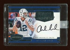 2016 Panini Plates and Patches Andrew Luck Pivotal Marks Autograph AUTO #17/25.