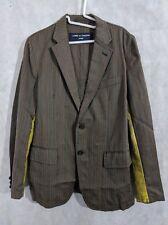 Comme des Garcons Homme AD 2004 Pinstripe Paint Stripe Blazer Size Small