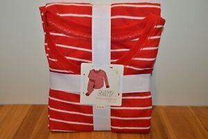Gilligan & O'Malley Xmas Women's Candy Cane Stripe 2pc Thermal Pajamas Size S