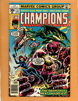 CHAMPIONS #13 GHOST RIDER BLACK WIDOW FN/VF