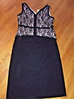 AA STUDIO Sexy Plus Style Sleeveless Lace Dress Womens Size 22W Long Black & NEW