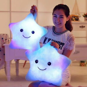 Smile Emoticon Illuminate Pillows Soft Feeling Glowing Pillow Boys Girls Gifts