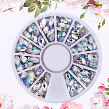 Mix Size Crystal AB Nail Art Rhineston Glitter Nail Beads 3D Diy Nail Accessory
