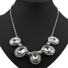 Markenlose Ovale Modeschmuck-Halsketten & -Anhänger im Collier-Stil aus Legierung